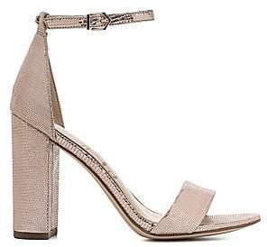 22634b2be Sam Edelman Women s Yaro Metallic Leather Block Heel Sandals
