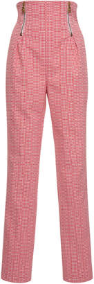 Versace High Waisted Houndstooth Pant