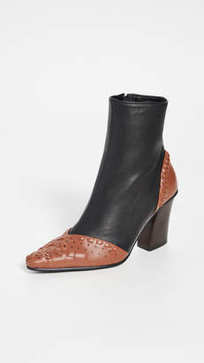 Reike Nen String Embroidery Slim Boots