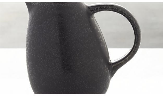 Crate & Barrel Jars Tourron Black Pitcher