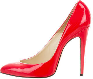 Brian Atwood Patent Leather Pointed-Toe Pumps $95 thestylecure.com