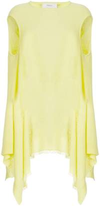 Pringle cashmere sleeveless draped top