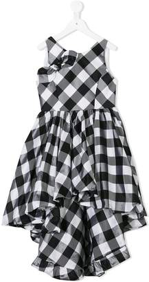 Nunzia Corinna gingham dip-hem dress