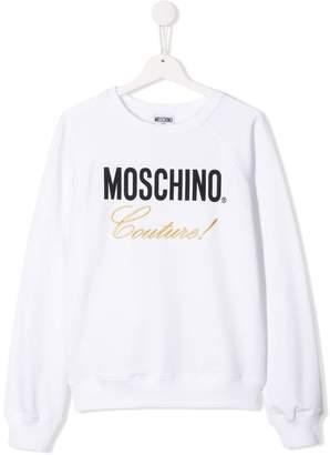 Moschino Kids TEEN logo printed sweater