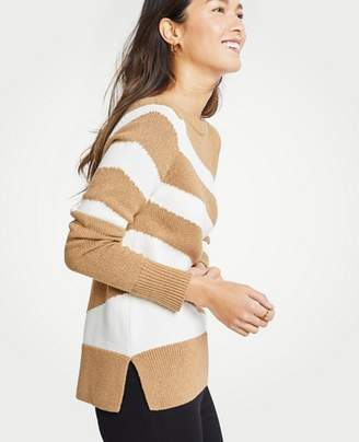 Ann Taylor Petite Diagonal Stripe Sweater