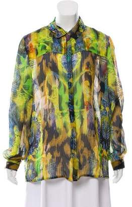 Matthew Williamson Printed Silk Top