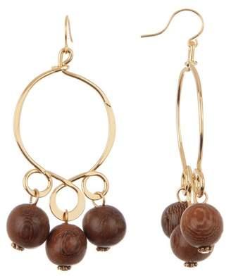 Yochi Delight Sphere Chandelier Earrings