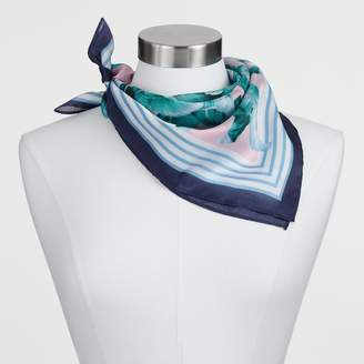 Cost Plus World Market Palm Print Kerchief Square Scarf