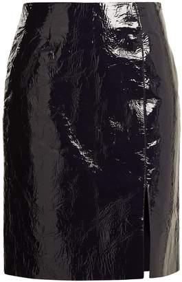 Diane von Furstenberg Slit-hem patent-leather pencil skirt