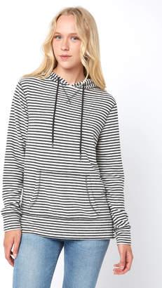 Z Supply Striped Soft Spun Knit Hooded Sweatshirt