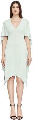 BCBGMAXAZRIA Maia Asymmetrical Capelet Dress