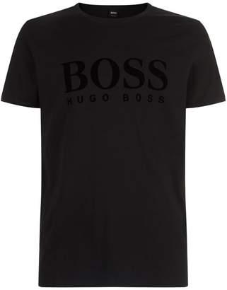 BOSS ORANGE Velvet Logo Printed T-Shirt
