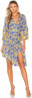 Apiece Apart Short Bougainvillea Wrap Dress
