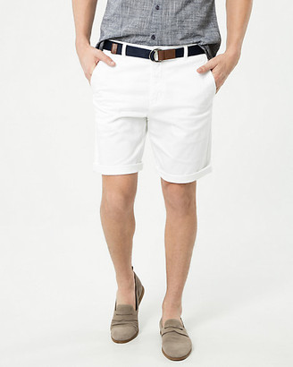 Le Château Cotton Blend Chino Shorts with Belt