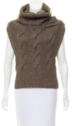 Theory Wool-Blend Cowl Neck Top