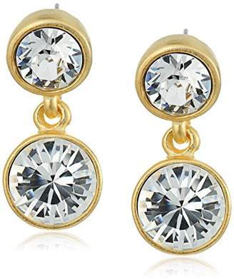 Kenneth Jay Lane 2 Drop Post Earring In Gold Drop Earrings