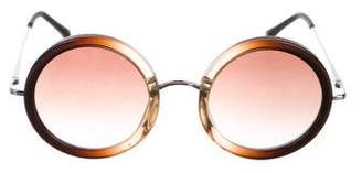 Linda Farrow The Row x Gradient Round Sunglasses