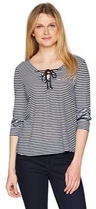 Velvet by Graham & Spencer Women's True Stripe Laceup Top