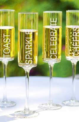 Cathy's Concepts 'Celebrate!' Contemporary Champagne Flutes