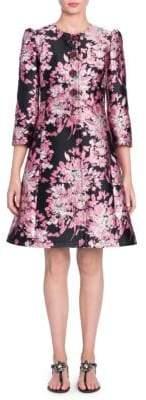 Dolce & Gabbana Floral Jacquard Princess Seam Coat