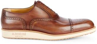 a. testoni Brogue Leather Oxfords