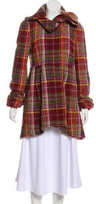 LaROK Wool-Blend Plaid Coat