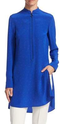 Akris Punto Silk Micro Dot Tunic