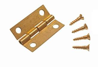ONESTOPDIY MINI HINGES FOR JEWELRY BOXES WITH PINS BRASS 25MM ( 50 pairs )