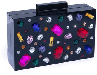 Alice + Olivia Chunky Stones Lucite Clutch