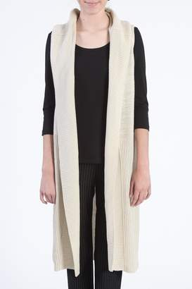 RD Style Sleeveless Cream Sweater