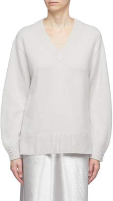 Vince Oversized cashmere V-neck tunic sweater