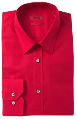 BOSS Solid Slim Fit Dress Shirt