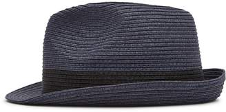 Reiss THOMAS WOVEN TRILBY HAT Navy