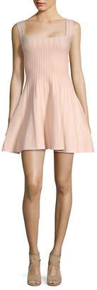Ronny Kobo Eti Textured Striped A-Line Dress