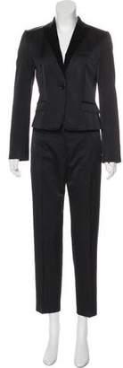 Dolce & Gabbana Satin Straight-Leg Pantsuit