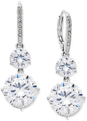 Danori Silver-Tone Crystal Double Drop Earrings, Only at Macy's $40 thestylecure.com