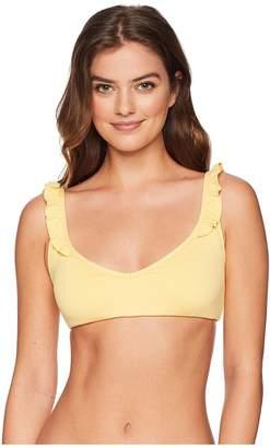 Polo Ralph Lauren Modern Solids Ruffle Tie Back Bralette Top Women's Swimwear