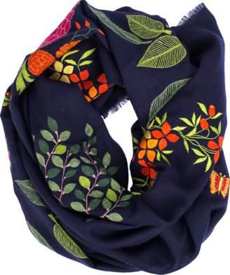 Janavi K. Garden Embroidered Scarf