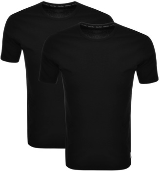 2 Pack Crew Neck T Shirts Black