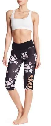 DSGN Yoga Cutout Floral Capri Leggings