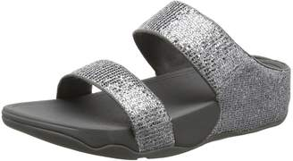 FitFlop Womens Lulu Superglitz Slide Synthetic Sandals 9 US