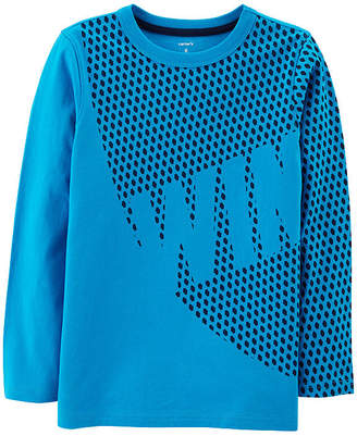 Carter's Athletic Tee WIN Long Sleeve Round Neck T-Shirt-Preschool Boys