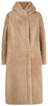 Max Mara Shearling Hooded Coat