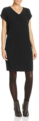 Eileen Fisher Stretch Silk V-Neck Dress $278 thestylecure.com