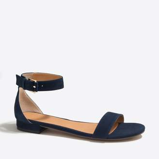 J.Crew Factory Hadley suede ankle-strap sandals