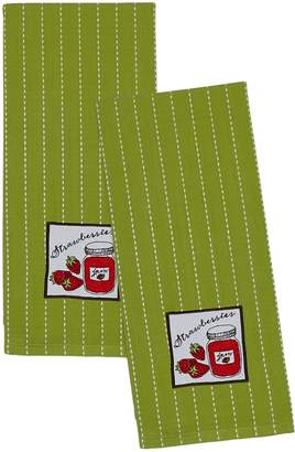 Design Imports Strawberries Embroidered Dish Towels (Set of 2)