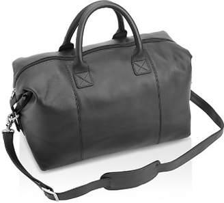 ROYCE New York Leather Overnighter Duffel Bag