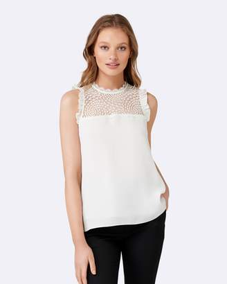 Forever New Delta Lace Spliced Essential Tank