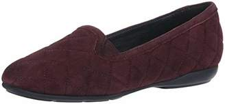 Geox Women's Annytah 7 Quilted Suede Round Toe Slipper Flats