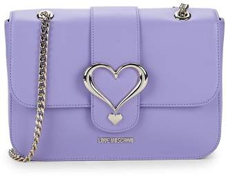 Love Moschino Women's Leather Heart Crossbody Bag